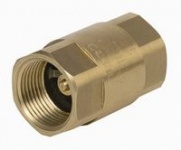 Check valve with brass disc