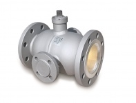 FLANGED BALL VALVE WITH HEATING JACKET